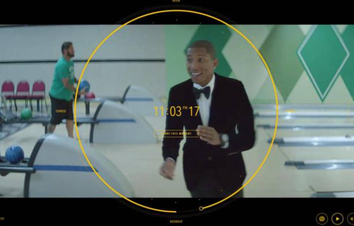 "Pharrell Williams dans le clip de 24 heures d'""Happy"", réalisé par le duo français de We are from LA.  – We are from LA"