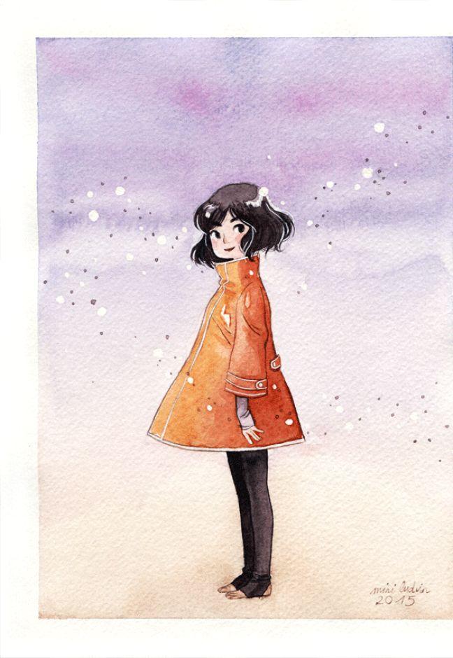 Une illustration de Mini Ludvin une illustratrice qui participe à la vente organisée à Angoulême les 10 et 11 décembre.