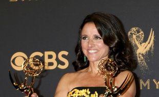 Julia Louis-Dreyfus, le 18 septembre 2017, aux Emmy Awards