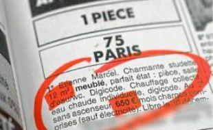 A Paris, la plupart des studios sont proposés à plus de 40€/m2.