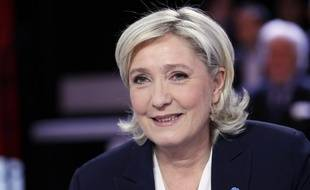 Marine Le Pen dans l'Emission Politique le 9 février 2017 sur France 2.