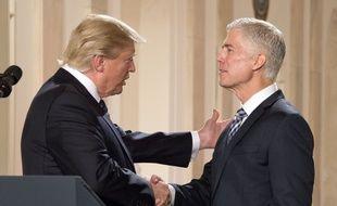 Donald Trump a annoncé la nomination du juge Neil Gorsuch à la Cour suprême, le 31 janvier 2017.