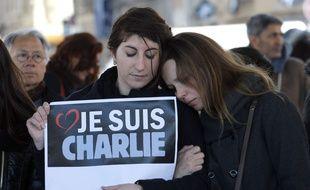 Hommage à Charlie Hebdo, à Marseille, le 8 janvier 2015.