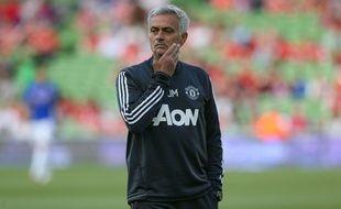 José Mourinho lors du match amical entre Manchester United et la Sampdoria, le 2 août 2017 à Dublin.