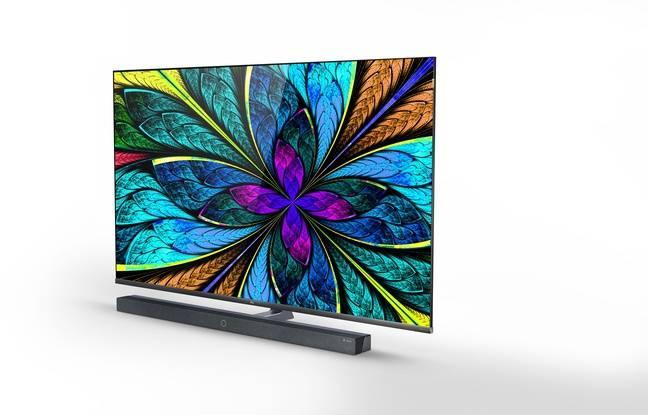 Le téléviseur X10 QLED 8K intègre sa propre barre de son Dolby Atmos.
