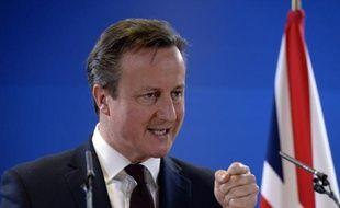 David Cameron, le Premier ministre britannique, le 20 mars 2015 à Bruxelles