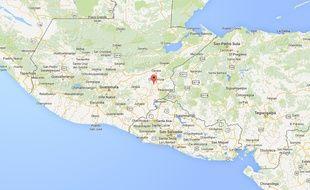Carte de situation de San José la Arada, au Guatemala.