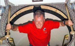 Jean-Loup Chrétien a bord de la navette Atlantis, en1997.