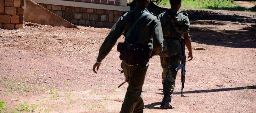 Image d'illustration: Deux soldats membres de la Seleka en Centrafrique en 2015.