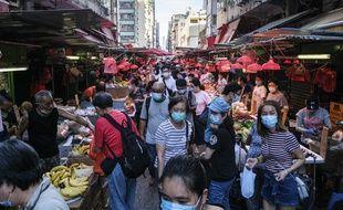 Un marché à Hong Kong, le 21 juillet 2020.