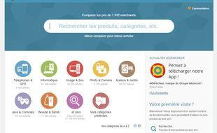 Capture d'écran du site Le Dénicheur, lancé par Le Bon Coin.