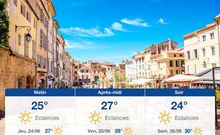 Météo Aix-en-Provence: Prévisions du mercredi 23 juin 2021