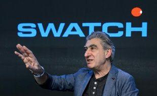 Le PDG de Swatch Group, le 12 mars 2014 à Corgemont, en Suisse