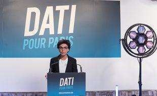 Rachida Dati, ici lors de son discours d'après le premier tour, refuse une alliance avec LREM.