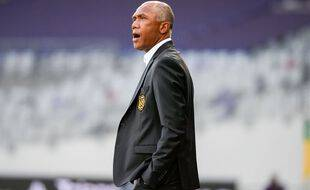 L'entraîneur nantais Antoine Kombouaré jeudi soir à Toulouse.