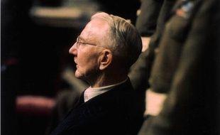 Hjalmar Schacht, l'argentier d'Adolf Hitler, lors du procès de Nuremberg