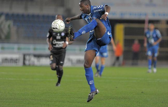 L'attaquant strasbourgeois Magaye Gueye lors de Racing-Caen (2-2), 28 septembre 2009.