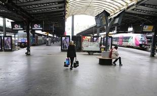 Paris, au deuxième jour de grève de la SNCF, le mercredi 4 avril 2018.