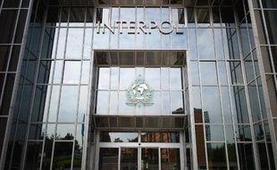 L'entrée du siège de l'organisation internationale de coopération policière Interpol à Lyon, le 6 mai 2010
