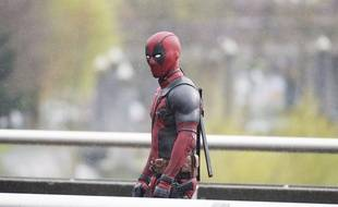 Ryan Reynolds sur le tournage de Deadpool en 2015