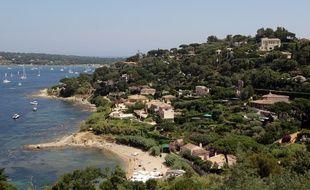 Une vue de la ville de Saint-Tropez.