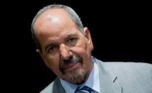 Le chef du Front Polisario qui lutte pour l'indépendance du Sahara occidental, Mohamed Abdelaziz, lors d'un entretien avec l'AFP à Madrid, le 14 novembre 2014