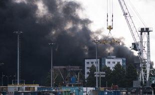 L'incendie de l'usine Lubrizol à Rouen, le 26 septembre 2019.