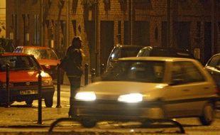 Une prostituée dans le Vieux-Lille.