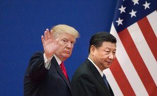 Les présidents américains et chinois Donald Trump et Xi Jinping.