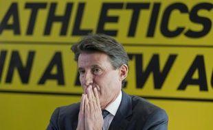 Le président de l'IAAF Sebastian Coe le 3 décembre 2014 à Londres