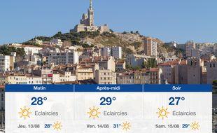 Météo Marseille: Prévisions du mercredi 12 août 2020