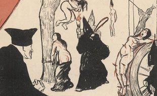 Tomas de Torquemada en pleine inquisition.