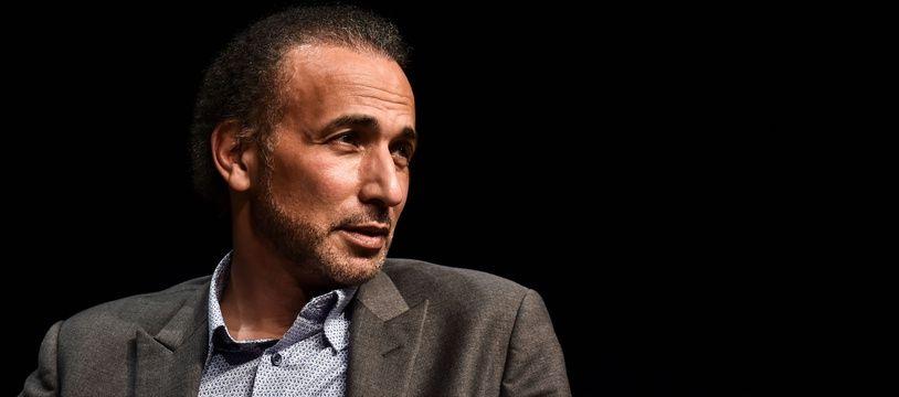 L'islamologue controversé Tariq Ramadan, le 26 mars 2016 à Bordeaux