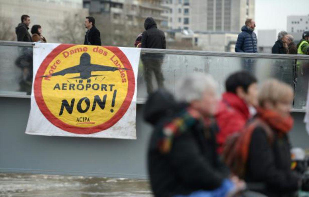 Manifestation contre le projet d'aéroport de Notre-Dame-des-Landes, le 13 janvier 2016 à Nantes – JEAN-SEBASTIEN EVRARD AFP