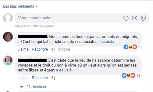 Capture d'écran de commentaires Facebook portant sur un article du «Figaro» qui traite des quotas d'immigration au Québec.