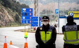 A la frontière franco-espagnole en période de Covid-19. (Illustration)