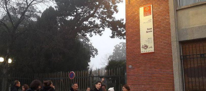 Des professeurs du lycée Saint-Sernin de Toulouse en grève, le 11 décembre 2018.