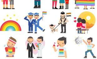 Facebook crée 36 stickers LGBT à l'occasion de la Pride Month