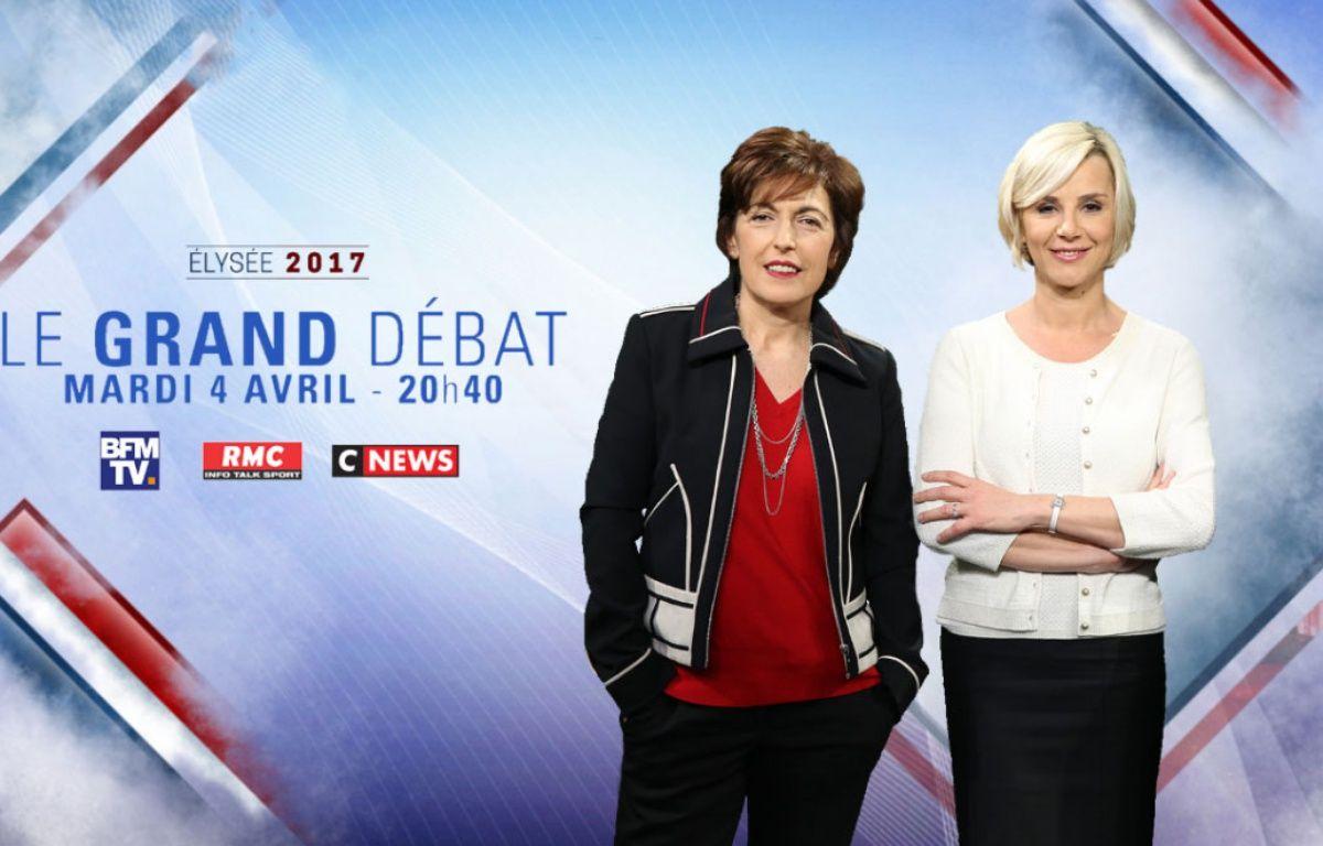 Visuel de présentation du débat du 4 avril 2017 entre les 11 candidats au premier tour de l'élection présidentielle diffusé sur BFMTV et CNews. – BFMTV/CNews
