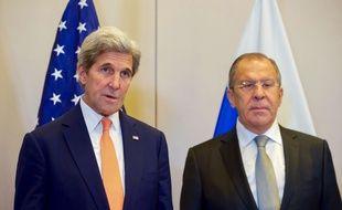 Les chefs de la diplomatie américaine et russe, John Kerry et Sergeï Lavrov.