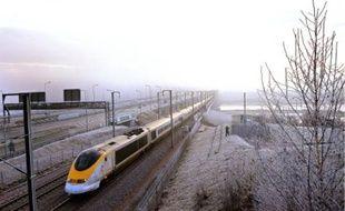Le trafic des Eurostar a été perturbé dans le tunnel sous la Manche en décembre 2009.
