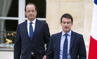 François Hollande et Manuel Valls le 4 avril 2014 à l'Elysée pour le premier conseil des ministres du nouveau gouvernement