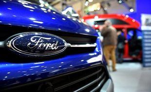 Exposition de voitures Ford à Düsseldorf en Allemagne.