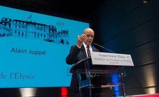 Alain Juppé, maire de Bordeaux et candidat à la primaire des Républicains lors des assises du Produire en France à Reims vendredi 9 septembre 2016.