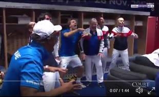 Une victoire en Coupe Davis, ça valait bien un petit haka.