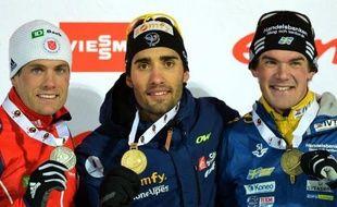 Après trois médailles d'argent, Martin Fourcade a enfin trouvé l'or sur les pistes de Nove Mesto en remportant jeudi le 20 km individuel, 5e titre mondial de sa carrière qu'il savourait malgré le forfait de son rival norvégien Emil Hegle Svendsen.