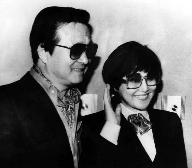 Le couple Shing Sang-ok/Choi Eun-hee à Washington, en 1986.