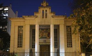 L'église orthodoxe de Lyon où le prêtre a été visé par des tirs samedi.