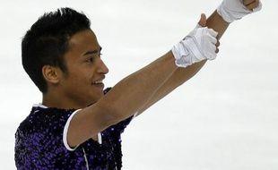 Le patineur français Florent Amodio, lors des championnats du monde de Moscou, le 28 avril 2011.