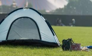 Une tente de camping (illustration).